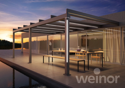 Wir optimieren Ihr Terrassendach. Verlängern Sie Ihr Terrassenvergnügen bis weit in den Herbst. Mit dem Terrassendach Terrazza von weinor sind Sie gut vor Wind und Wetter geschützt.
